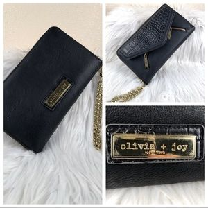 Olivia + Joy wallet chain clutch